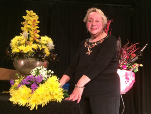 Michelle Davies with one of her arrangements