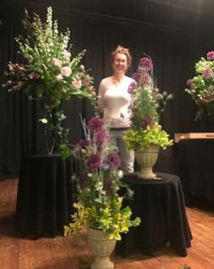 Katie Baxter with her arrangements